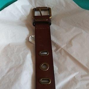 Saddle womens belt-brown